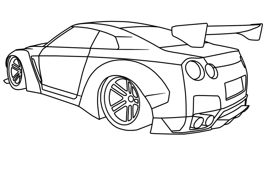 nissan gtr r35 liberty walk  u2013 let u0026 39 s draw